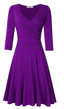 purple long sleeve dress