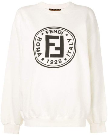 Pre-Owned FF logo print sweatshirt