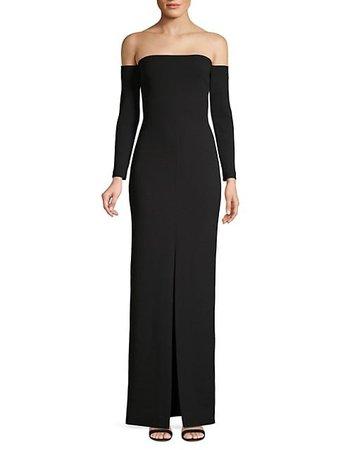 Solace London Odine Off-The-Shoulder Maxi Dress on SALE | Saks OFF 5TH