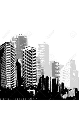 city clipart vector