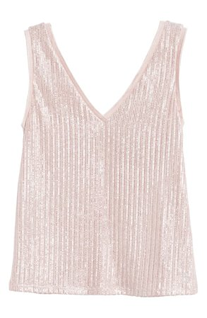 Ted Baker London Robinee Metallic Tank | pink