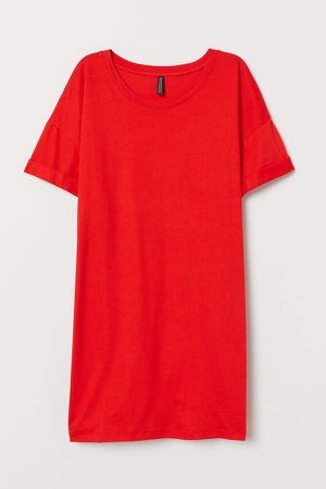 H&M+ Cotton Jersey T-shirt - Red