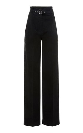 Black cullote pants with belt