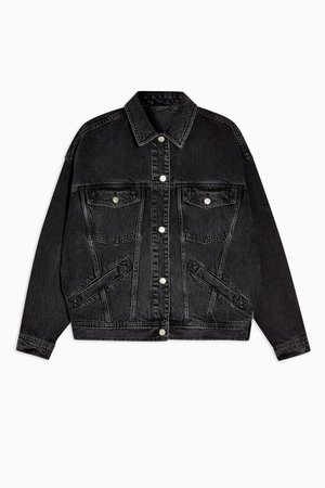 CONSIDERED Black Denim Oversized Jacket | Topshop