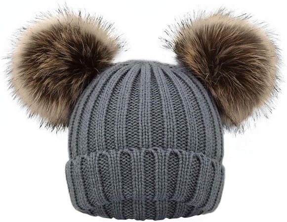 Amazon.com: Simplicity Kids Knit Boys Fleece Hat Toddler Beanie Winter Hat Snow Cap, Grey: Clothing