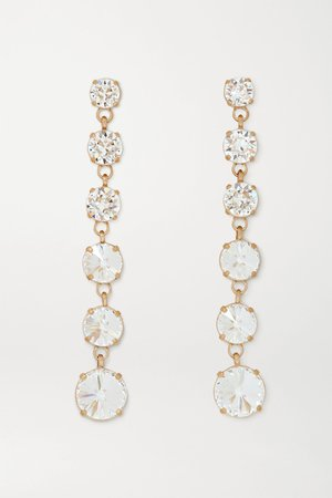 Gold Gold-tone Swarovski crystal earrings | Roxanne Assoulin | NET-A-PORTER