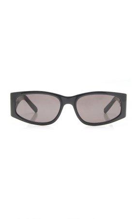 Square Acetate Sunglasses By Saint Laurent | Moda Operandi