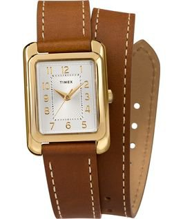 Addison 25mm Double Wrap Leather Strap Watch - Timex CA
