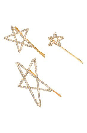 LELET NY Set of 3 Seeing Stars Bobby Pins | Nordstrom