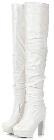 Maykool fashion white boots $40.99