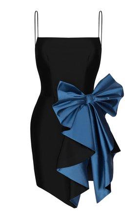 Bow Draped Silk Dress by Rasario   Moda Operandi