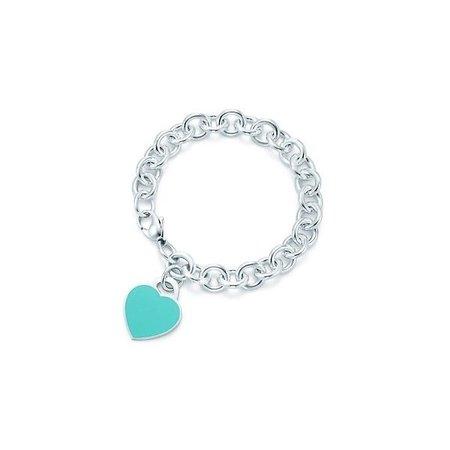 tiffanys blue heart charm bracelet