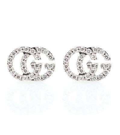 Running G 18Kt Gold And Diamond Earrings - Gucci | Mytheresa