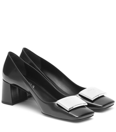 Prada - Leather pumps | Mytheresa