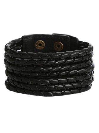 LOVEsick Black Multi Rope Snap Bracelet