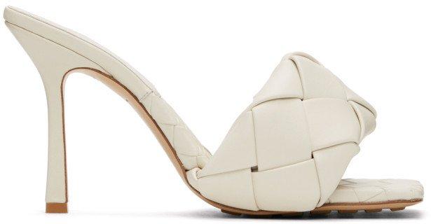 Off-White Intrecciato Lido Heeled Sandals
