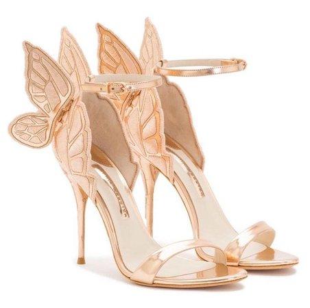 Rose Gold Butterfly Glam Heels | Butterfly shoes, Butterfly heels, Heels