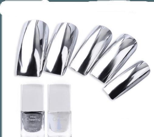 New Metallic Chrome - Mirror Effect Nail Polish