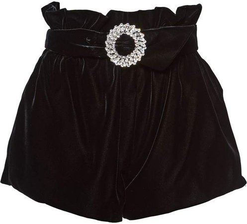 jewelled belted shorts