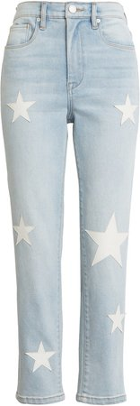 The Madison Star Patch Crop Jeans