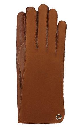 Женские коричневые перчатки jacqueline из кожи и замши LORO PIANA — купить за 38350 руб. в интернет-магазине ЦУМ, арт. FAF8575