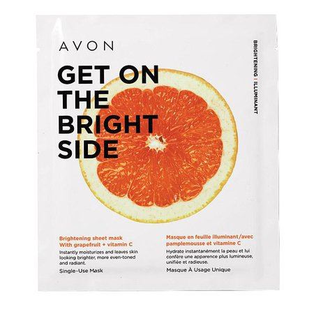 Get On the Bright Side Brighten Sheet Mask by AVON