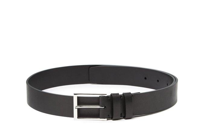 Dress Belt Satin Calf Black   Handmade Mens Leather Belt   Harrys of London   Harrys of London