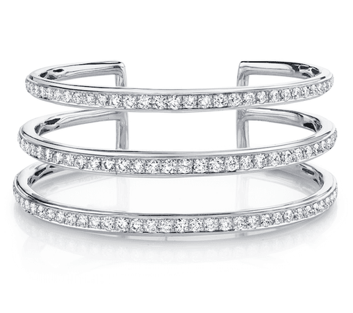 THREE-ROW DIAMOND CUFF - Anita Ko