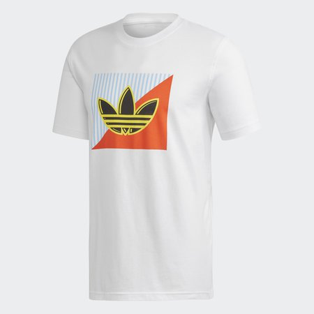 adidas Diagonal Logo Tee - White   adidas US