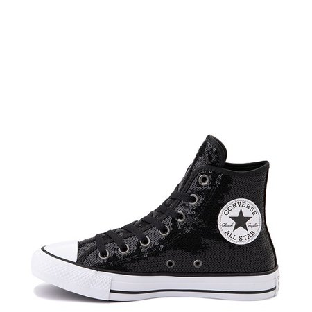 Converse Chuck Taylor All Star Hi Sequin Sneaker - Black | Journeys