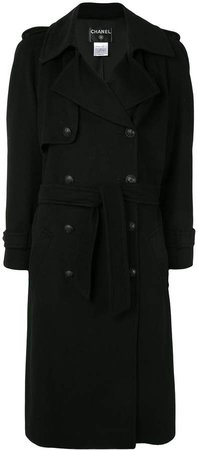 Chanel Pre Owned Midi Trench Coat