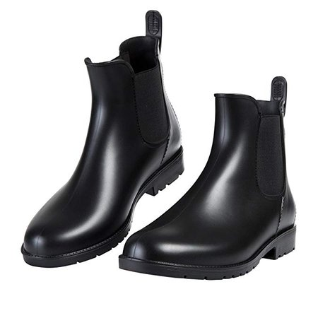 Amazon.com | Asgard Women's Short Rain Boots Waterproof Slip On Ankel Chelsea Booties | Rain Footwear