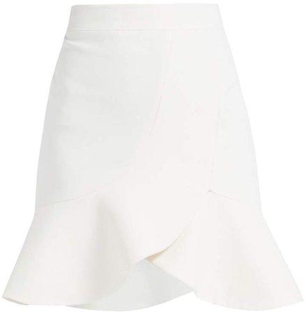 WtR - Nakia White Cotton Skater Mini Skirt
