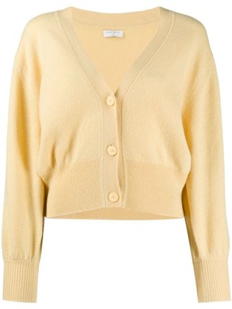 Yellow Sandro Paris Happy short cardigan SFPCA00299 - Farfetch