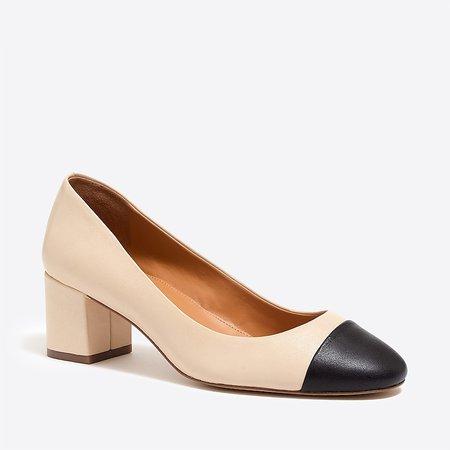 J.Crew Factory: Bryn Cap-toe Leather Block Heels For Women
