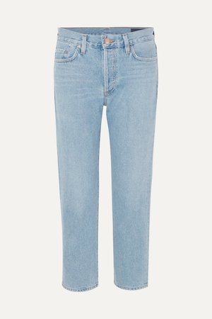 The Low Slung Mid-rise Jeans - Mid denim