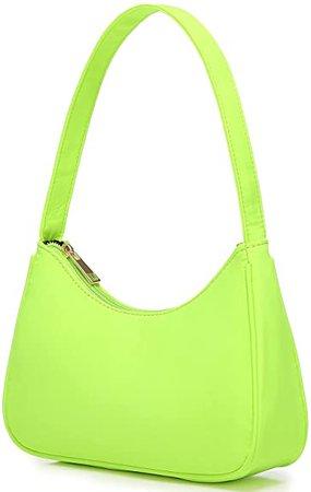 Amazon.com: Small Purse for Women, Cute Hobo Tote HandBag Mini Clutch, Nylon Shoulder Bags with Zipper Closure, White: Shoes