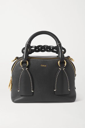 Navy Daria small textured and smooth leather tote | Chloé | NET-A-PORTER