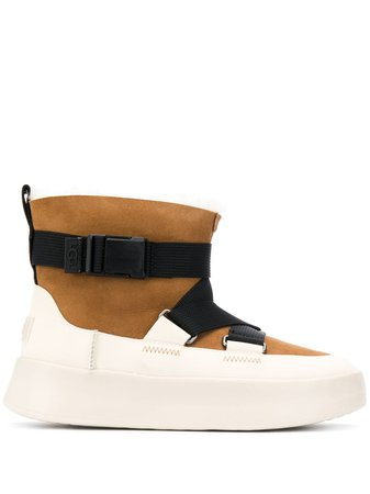 Ugg Boom Buckle Suede Boots 1104616CHE Brown | Farfetch