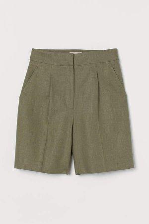 Linen Shorts - Green