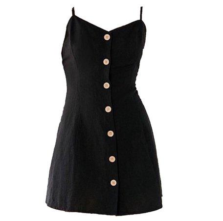 Short Black Tank Dress (png)