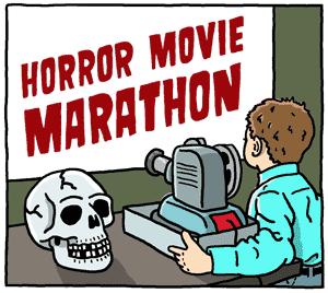 horror movie marathon