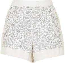 Sequin Embellished Shorts