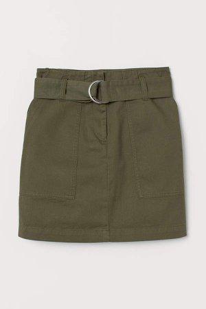 Cargo Skirt - Green