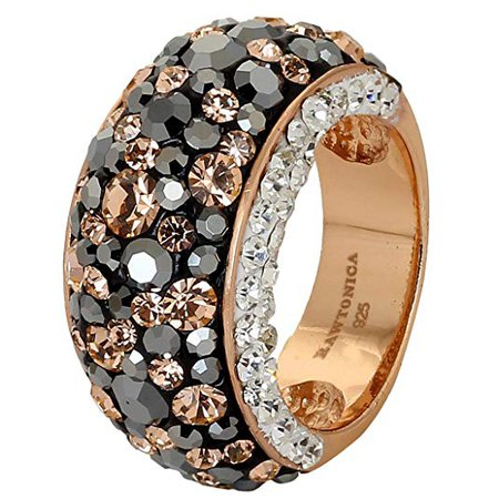 Amazon.com: Rawtonica Women's Black Gold Cocktail Ring (Black, 7): Jewelry