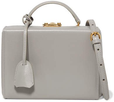 Grace Small Textured-leather Shoulder Bag - Gray