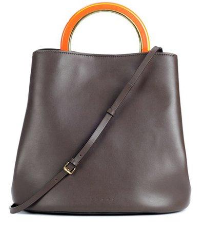 Pannier leather handbag