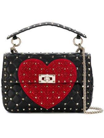 Valentino Valentino Garavani Heart Rockstud Spike Crossbody Bag - Farfetch