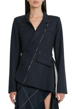MONSE Deconstructed Slashed Wool-blend Jacket