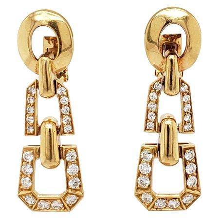 Cartier Diamond Drop Earrings